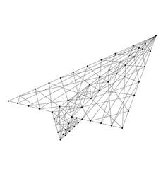 plane origami paper from futuristic polygonal vector image