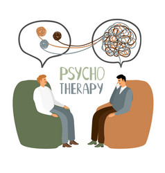 Psychotherapy treatment concept vector
