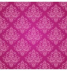 Red vintage damask pattern vector image