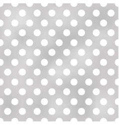 seamless polka dots grey pattern vector image