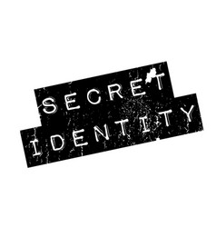 Secret identity rubber stamp vector