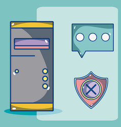 Security system technology vector