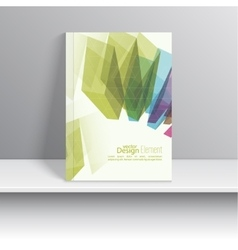 Set Magazine Cover with colored crystals vector