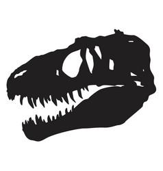 Skull dinosaur vector