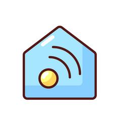 Smart home app rgb color icon vector