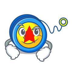 Smirking yoyo character cartoon style vector