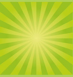 Sunburst pattern with green color palette vector