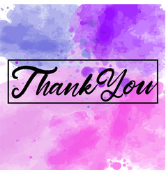 thank you abstract watercolor background vector image