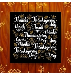 Thanksgiving Greeting Calligraphy vector