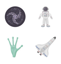 The alien s hand the space shuttle ship space vector