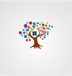 tree house logo with colorful concept icon vector image