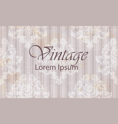 vintage pattern baroque ornamented background vector image