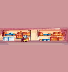 Warehouse interior vector