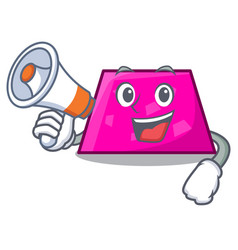 with megaphone trapezoid character cartoon style vector image