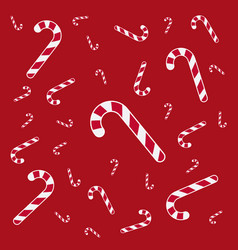 xmas candies texture vector image