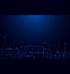 abstract futuristic circuit board and hi-tech vector image