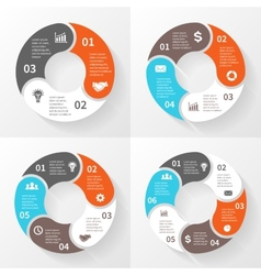 Business circle infographic diagram with options vector image