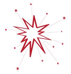image of festive fireworks vector image