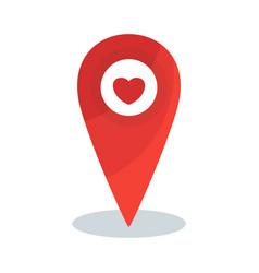 map pin heart vector image