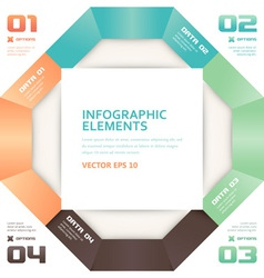 Modern Origami Style Number Options Infographics vector image vector image