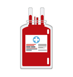 plastic bag blood donate health care vector image