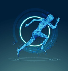 running preview vector image