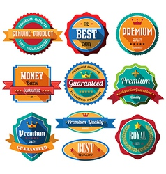 Set of retro vintage badges and labels Flat design vector image vector image