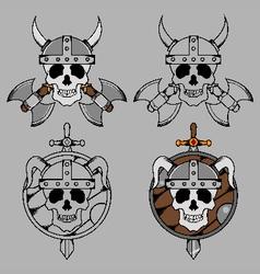 Viking Skull Mascot vector image vector image