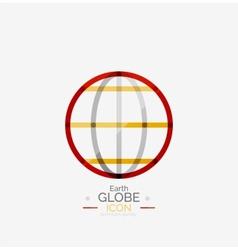 World globe logo stamp vector image