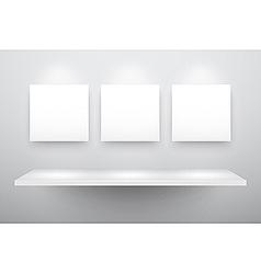 3d isolated empty shelf vector image