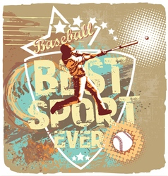 baseball league sport vector image vector image