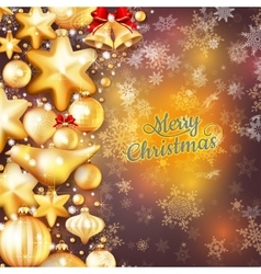 Christmas background template EPS 10 vector image vector image