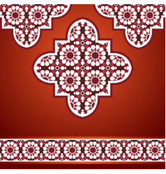 eastern mosaic background in red vector image vector image