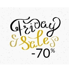 Friday sale hand made script design template vector image