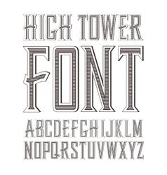 handy crafted vintage label font vector image