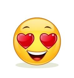 In love emoticon vector image vector image