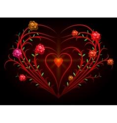 Rose Bush vector image