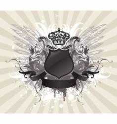 vintage heraldic illustration vector image vector image