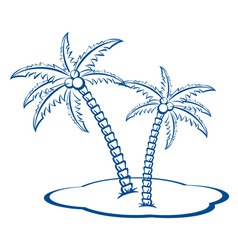 palm trees vector image