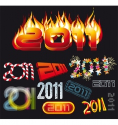 2011 set vector image