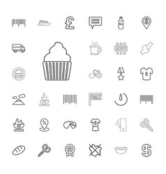 33 label icons vector