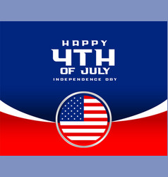 4th july happy independence day flag background vector image