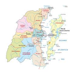 administrative map metropolitan area florianopolis vector image