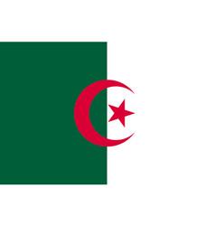 Algeria flag flat vector