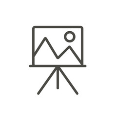 Artist easel icon line art canvas symbol vector