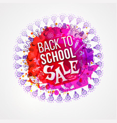 Back to school sale circle splash vector