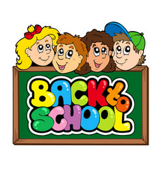 back to school theme 5 vector image