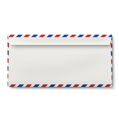 Backside of slightly opened DL air mail envelope vector