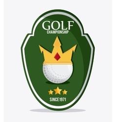 Ball icon Golf sport design graphic vector