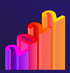 Banner for 2022 new year in stair infograph style vector